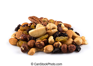 trocken, mischling, nüsse, früchte