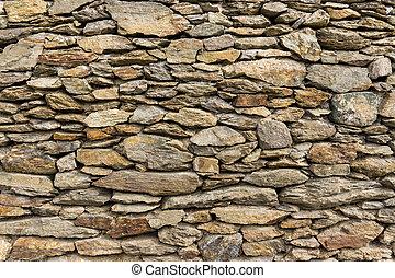 trocken, steine, natürlich, wand, gestein, mauerwerk