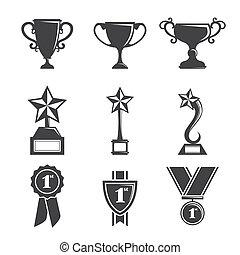 troféu, ícones