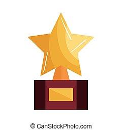 troféu, estrela, distinção, ícone