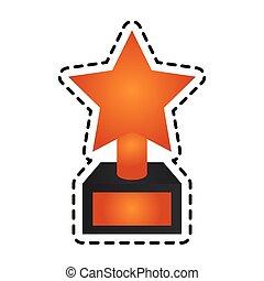 troféu, imagem, estrela, ícone