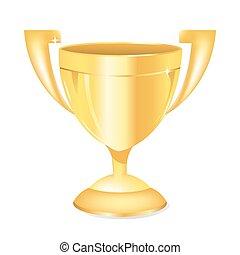 troféu, ouro