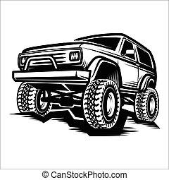 trofeo, automobile, fuoristrada, suv, camion, 4x4