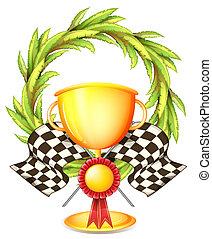 trofeo, dorato