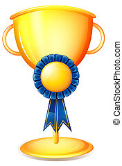 trofeo, nastro blu, tazza