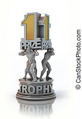 trofeo, premio, primo