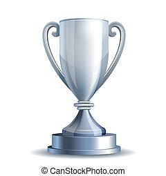 trofeo, taza de plata
