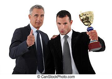 trofeo, uomini affari