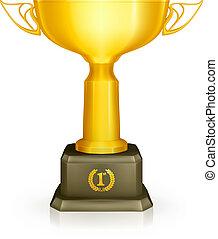 trofeo, vettore, da corsa