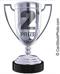 trofeum, drugi, nagroda, 3d