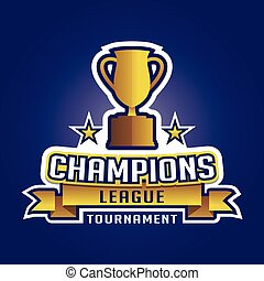 trofeum, liga, graficzny, emblemat, mistrz, lekkoatletyka, logo, odznaka