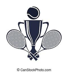 trofeum, tenis, sport, nagroda