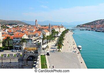 Croatia - skyline of Trogir in Dalmatia (UNESCO World Heritage Site).