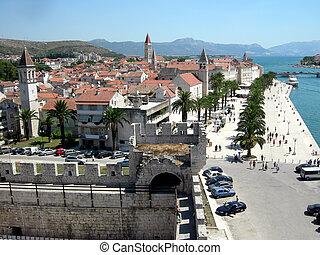 trogir, város, horvátország
