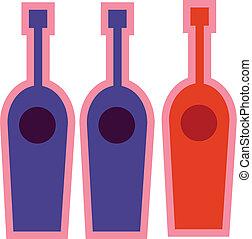 trois, bouteille