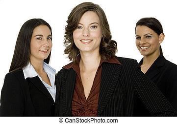 trois, femmes affaires