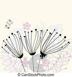 trois, fleurs