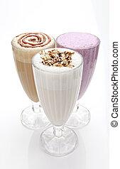 trois lunettes, de, milk-shakes