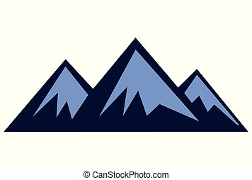 trois, montagne, logo, dsign