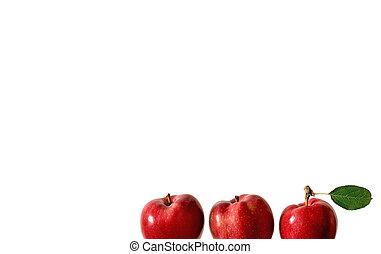 trois, pommes