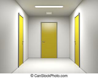 trois, portes