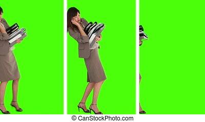 trois, situations, où, nous, boîte, voir, a, femme affaires,...
