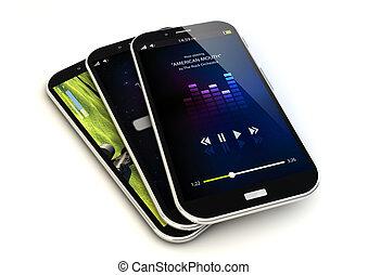 trois, smartphones
