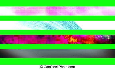 troisième, 21n, vert, écran, inférieur
