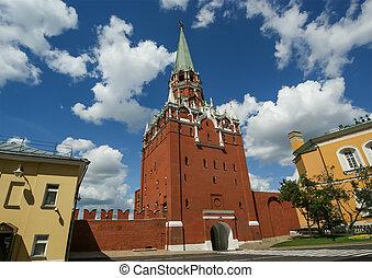 Troitskaya Tower, Moscow Kremlin, Russia
