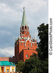 Troitskaya Tower of Moscow Kremlin