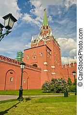 Troitskaya Tower Of The Moscow Kremlin.
