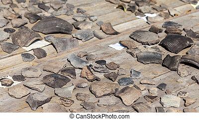 troitskiy, オブジェクト, 考古学的, 見いだされた, の間, 掘削