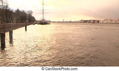 Troitsky bridge in St. Petersburg