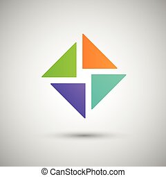 trojúhelník, abstraktní, neposkvrněný, barva grafické pozadí