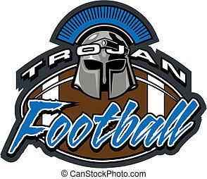 trojan football design