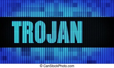 Trojan Front Text Scrolling LED Wall Pannel Display Sign...