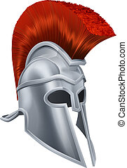 Trojan Helmet - Illustration of an ancient Greek Warrior...