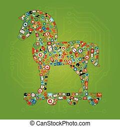 Trojan Horse Shape Concept