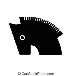 Trojan horse symbol icon black