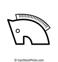 Trojan horse symbol icon line
