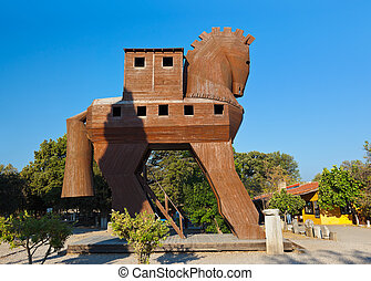 Trojan Horse - Troy Turkey - Trojan Horse at Troy Turkey -...