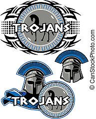 trojan mascot design - Trojan mascot design