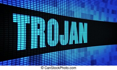 Trojan Side Text Scrolling LED Wall Pannel Display Sign...