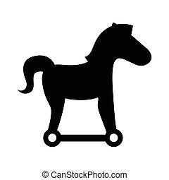 trojan silhouette virus icon