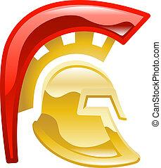 Trojan spartan or gladiator helmet