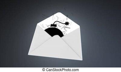 trojan, via, réseau, global, virus., e-mail, attaque