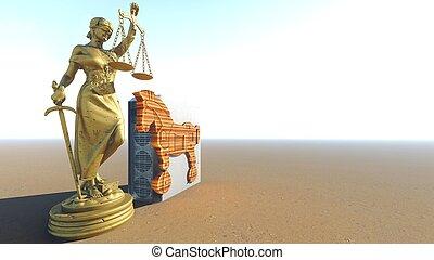 Trojanisches Pferd Conception übertragung Computer Gesetz 3d