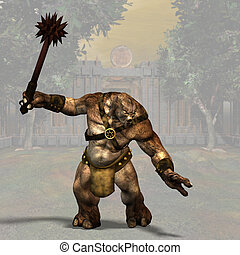 Troll #02 - Fantasy Series - Image contains a Clipping Path