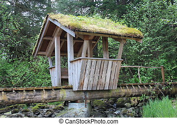 Troll Bridge in Alaska Park - The Troll Bridge at Sandy...