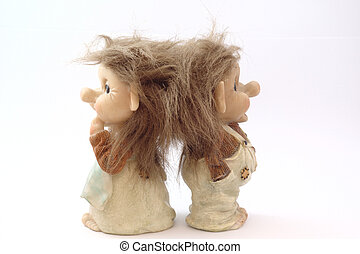 troll, danois, poupées